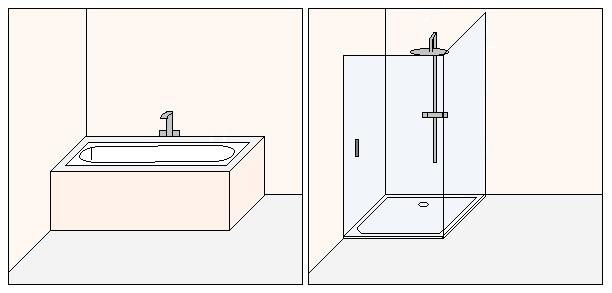 Grafik zu barrierefreie Dusche